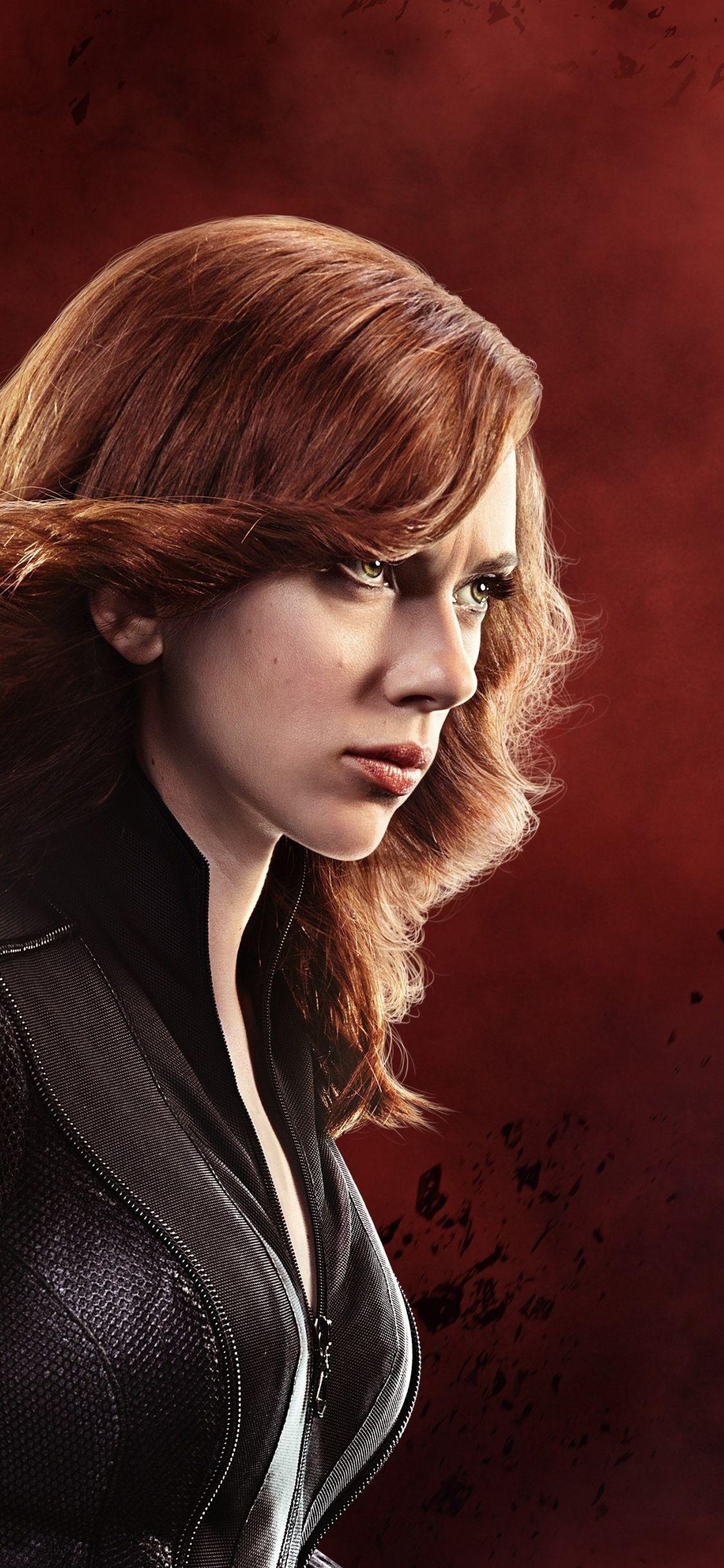 Actress Celebrity Scarlett Johansson Black Widow 1125x2436
