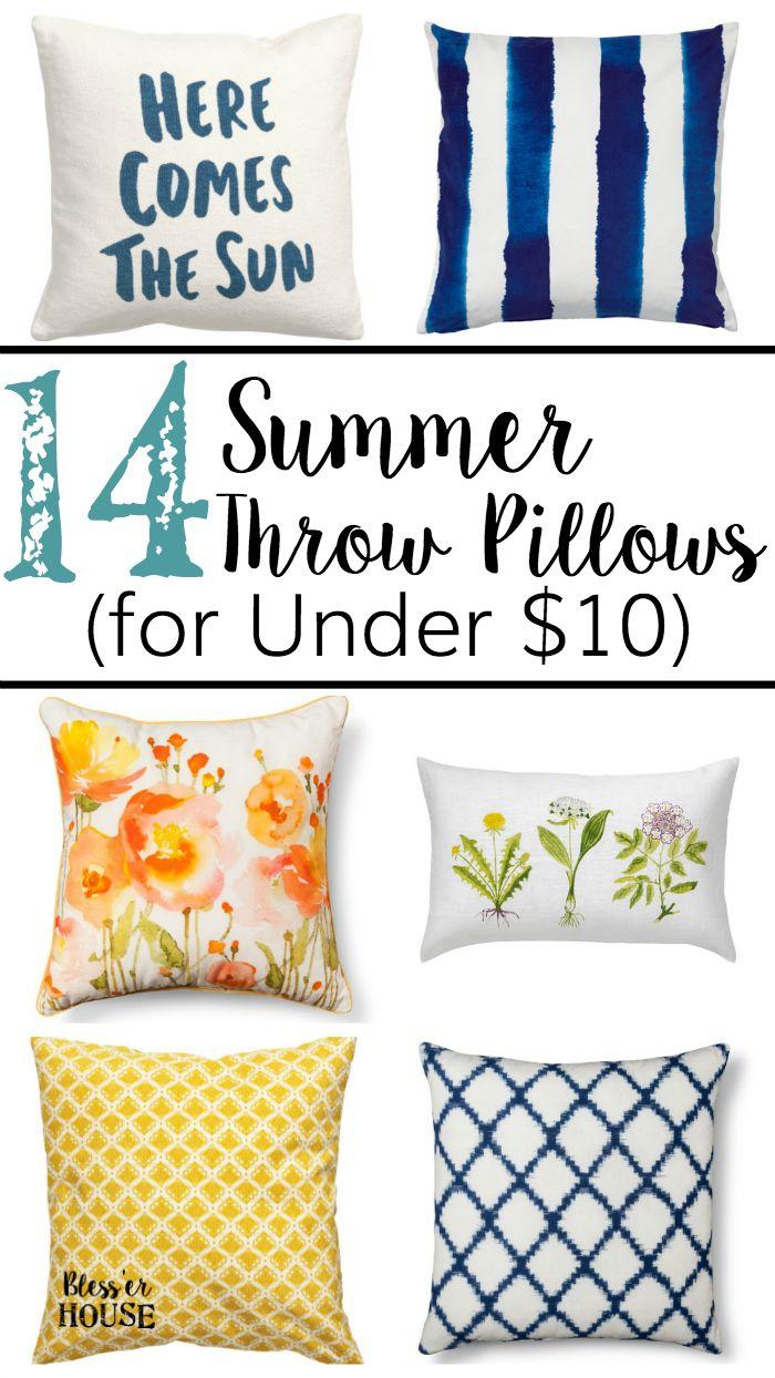 14 Summer Throw Pillows For Under 10 Farmhouse New Style