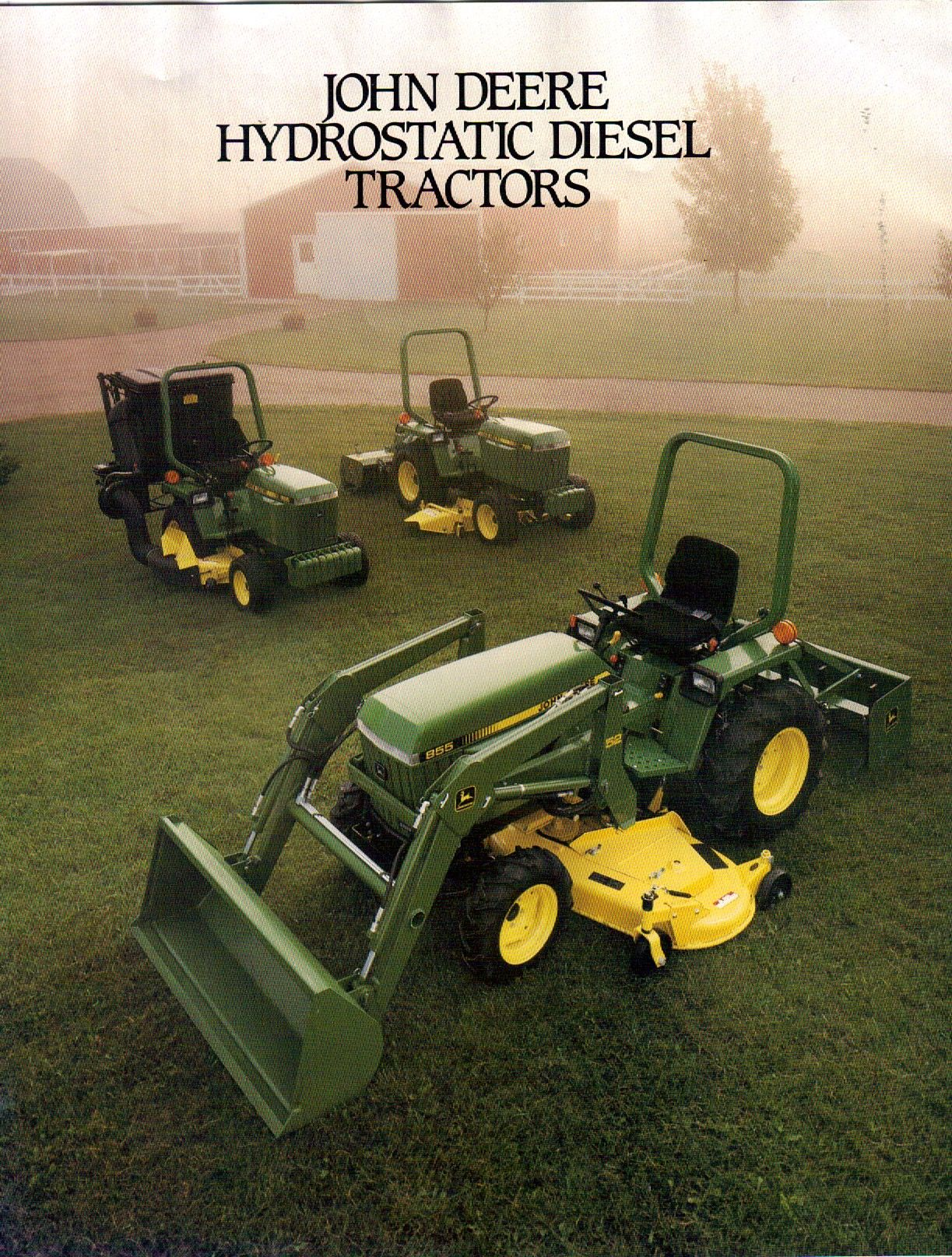 John Deere 655-755-855 Compact Diesel Tractor Brochure, these tractors sure  have become collectible!
