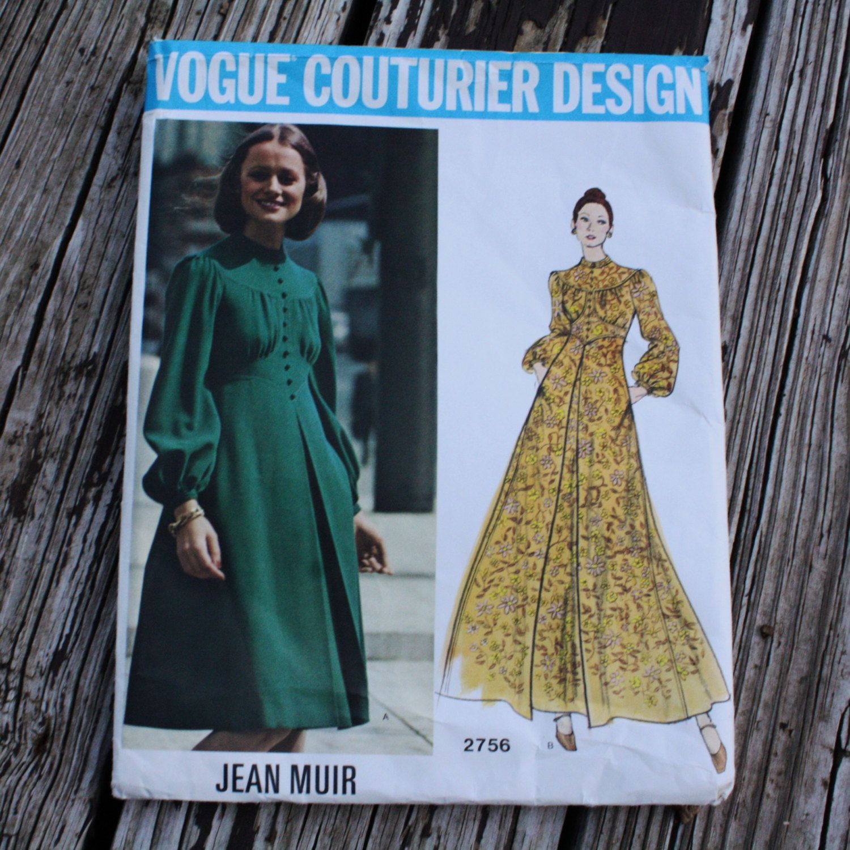 Vogue Couturier Design 2756 Jean Muir Boho Bohemian Hippie Dress ...