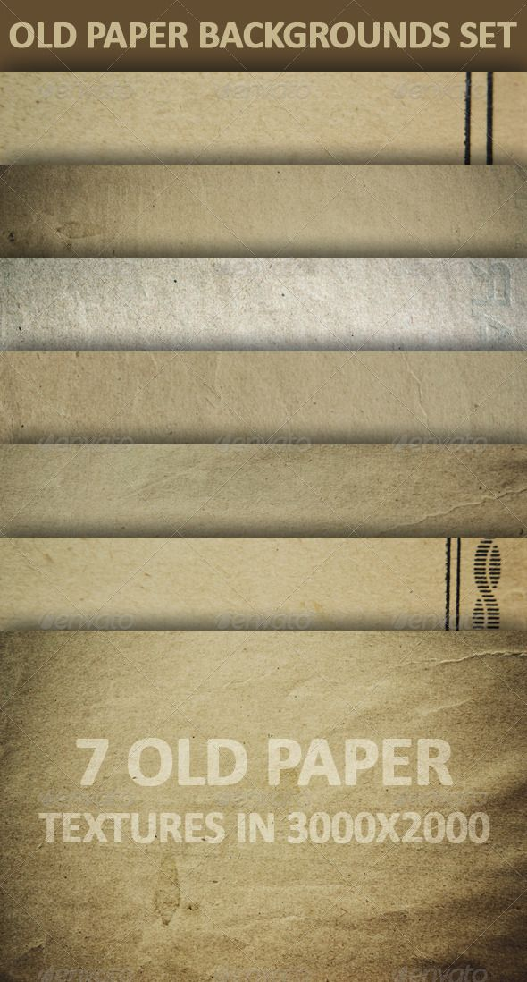 Old Paper Backgrounds Set | Paper background, Textured background ...
