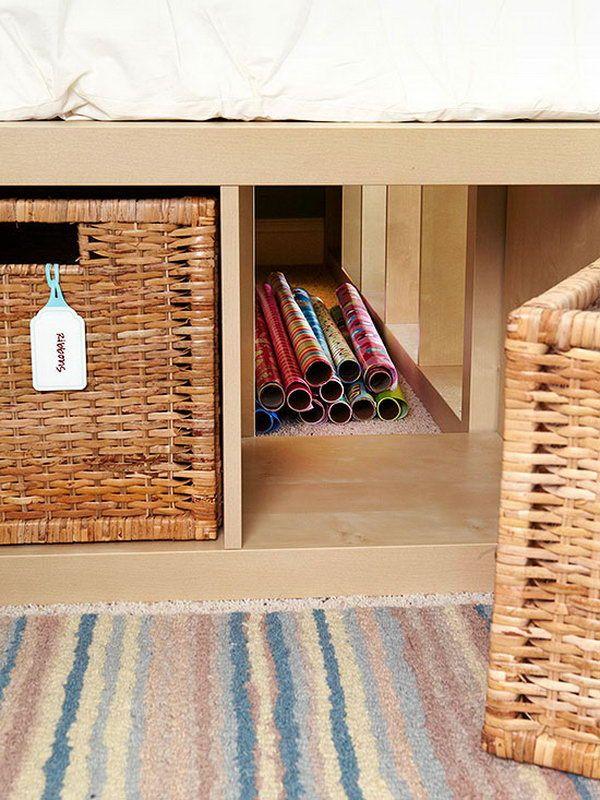 Hidden Storage. Take advantage of hidden storage beneath the bed to ...