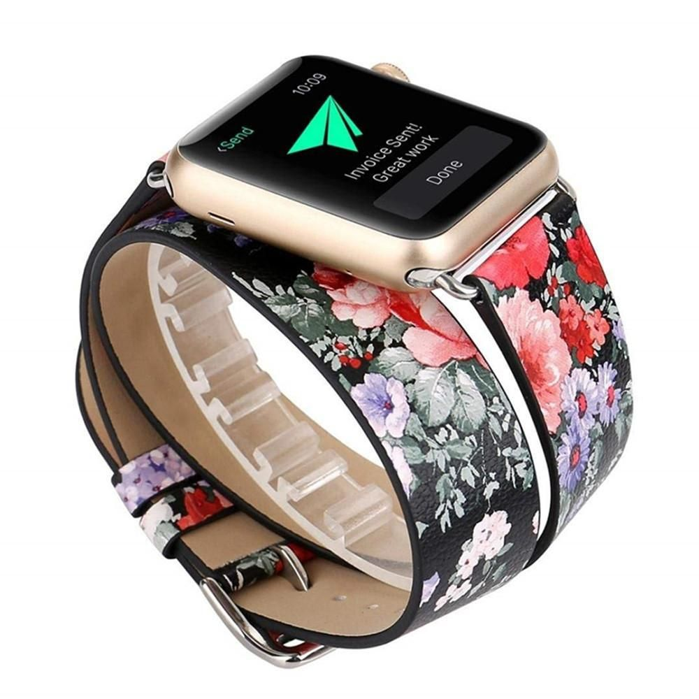 Watchbands Sporting Long Soft Leather Band For Apple Watch Iwatch Series 4 3 2 1 40mm 44mm 38mm 42mm Double Tour Bracelet Strap For Smart Watch Up-To-Date Styling