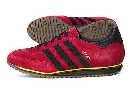 adidas jeans red and black
