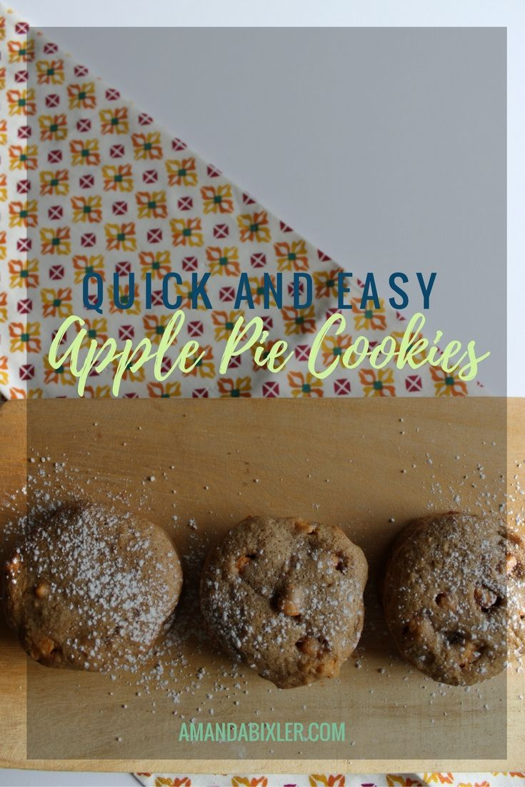 Perfect, simple, and delicious apple pie cookies - the most amazing taste of fall in every bite! | amandabixler.com