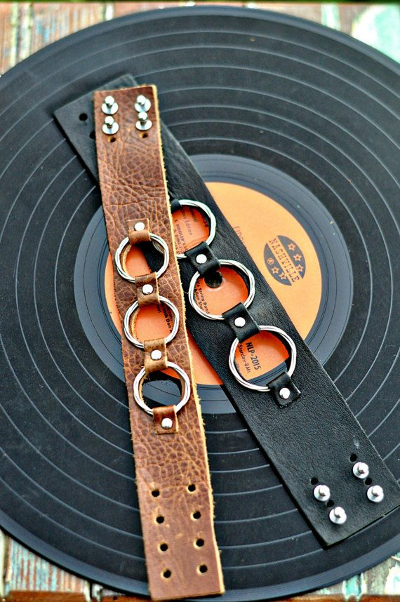 Unisex Guitar String Cuff large width by RobinandLeigh on Etsy