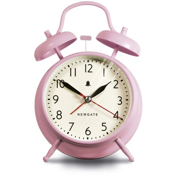 Newgate Clocks The New Covent Garden Alarm Clock - Dreamy Pink ($32) ❤ liked on Polyvore featuring home, home decor, clocks, fillers, decor, pink, bell alarm clock, newgate clocks, dial clocks and pink clock