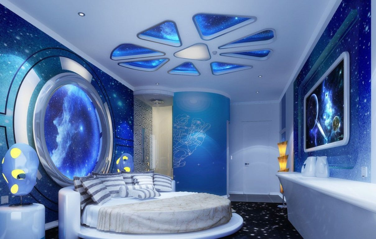 Space Theme Room Space Themed Bedroom It S A Perfect Way To Educate Your Boy And Create A Fun And Inter Space Themed Bedroom Space Themed Room Bedroom Themes