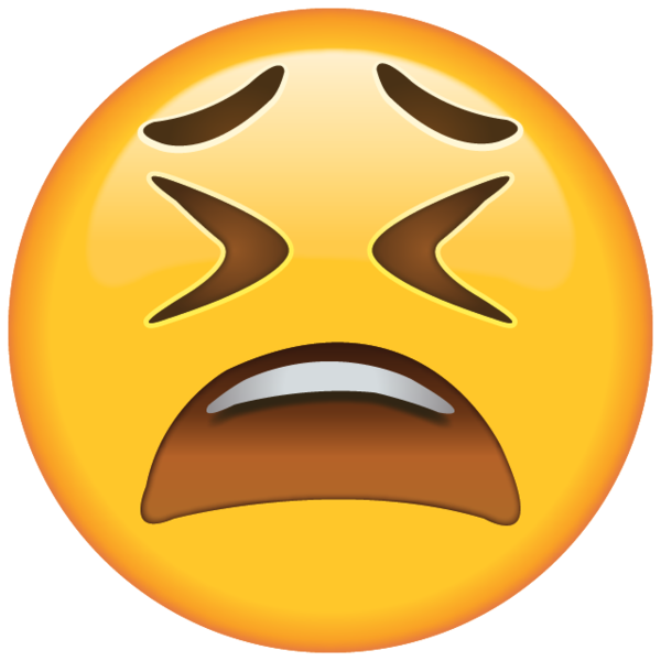 Weary Face Emoji - After a long hard day, this emoji knows how to say