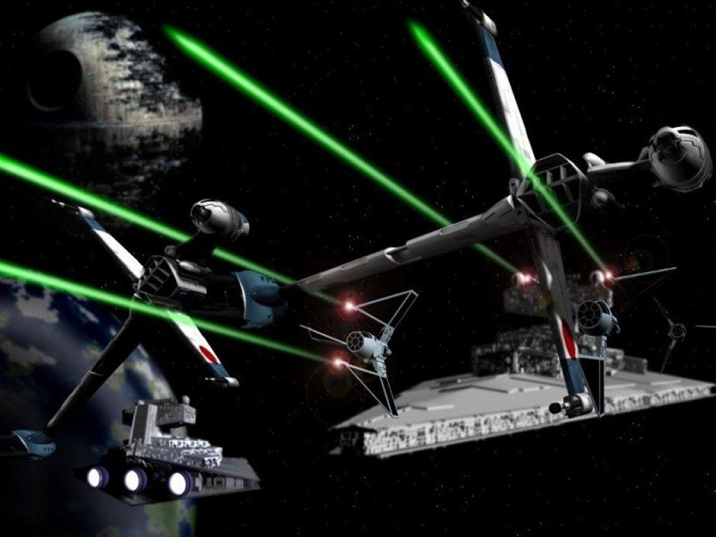Fondo De Pantalla De Star Wars Batalla Espacial Space Battles Star Wars Wallpaper Star Wars