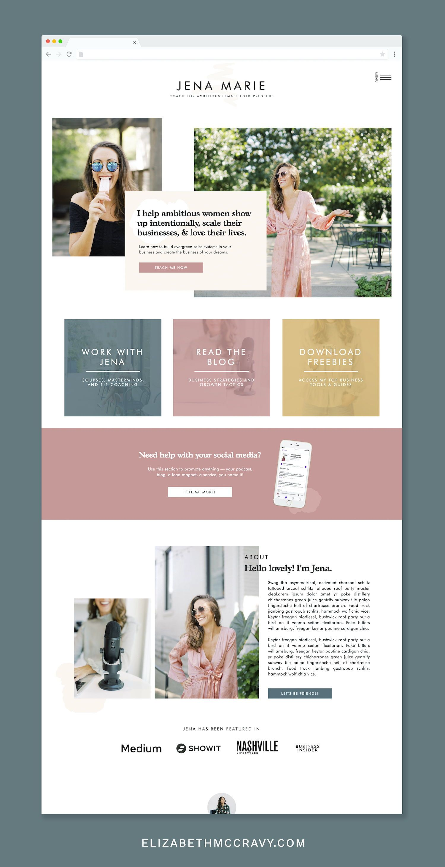 Showit Website Template For Coaches In 2020 Life Coach Websites Showit Beautiful Website Design
