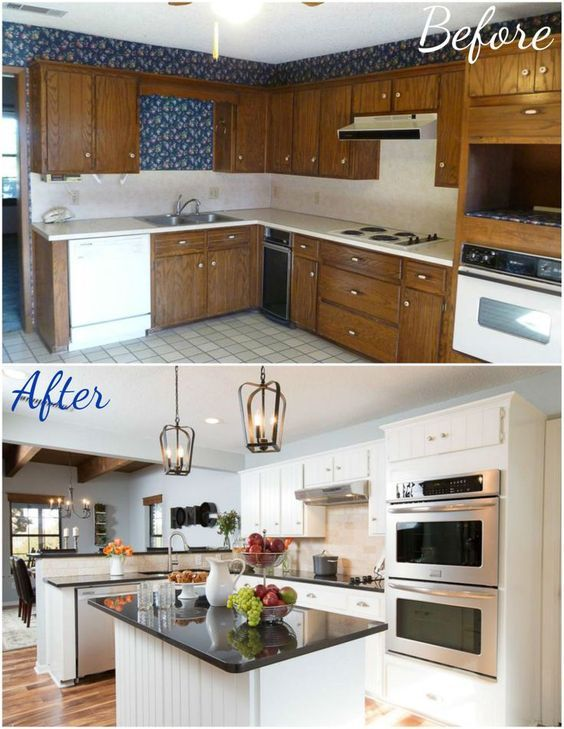 Pretty Before And After Kitchen Makeovers | Home repair and ...