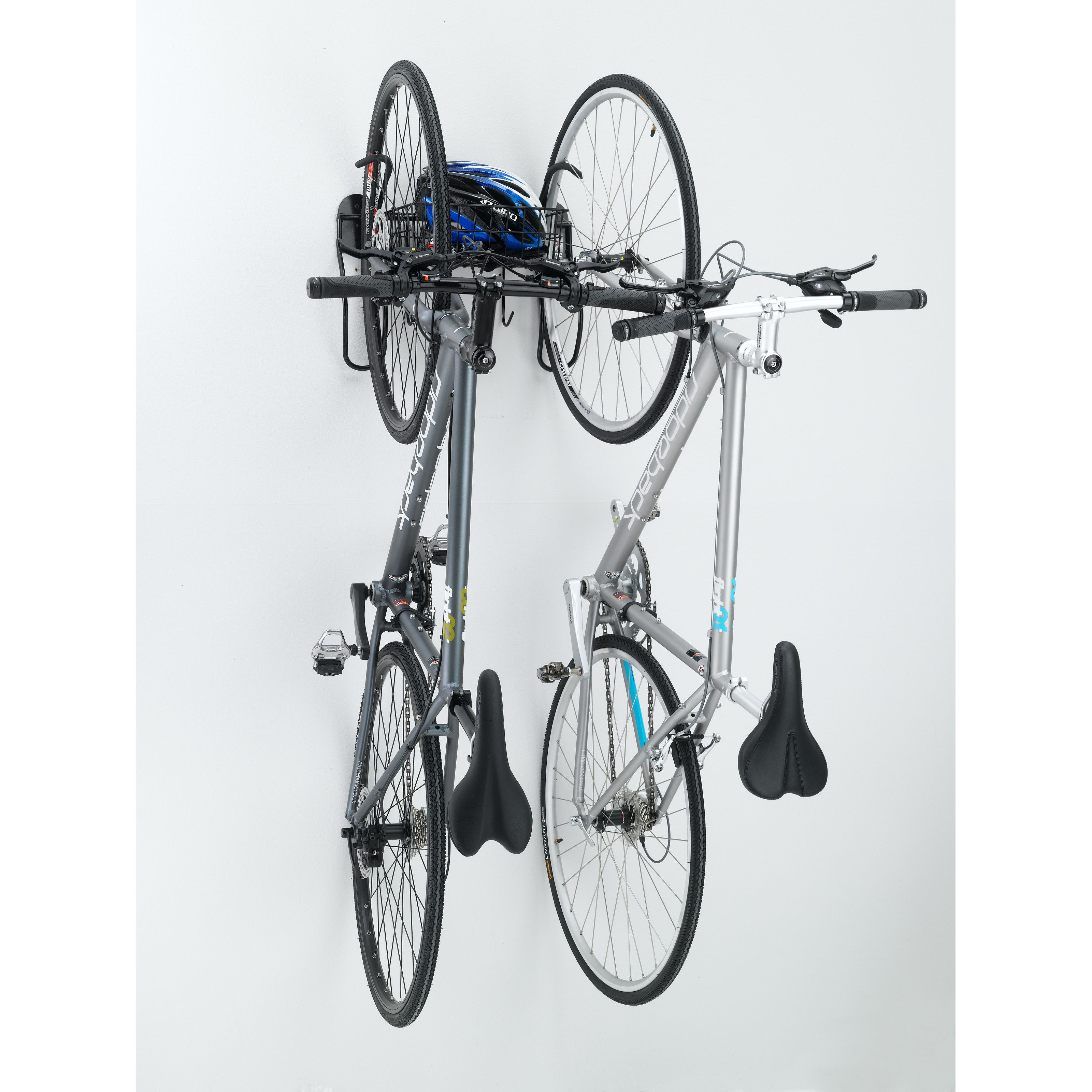 Gear Up Inc Black Series 2 Bike Vertical Wall Mount With Basket