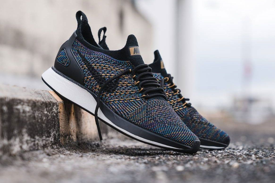 Check Out The New Multicolor Nike Air Zoom Mariah Flyknit Racer Nike Shoes Flyknit Sneakers Men Fashion Nike Shoes Blue