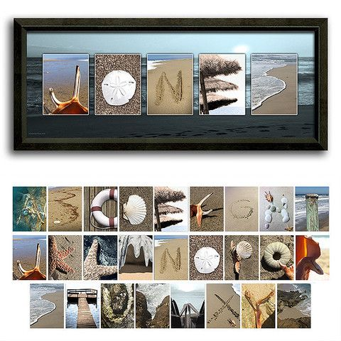 coastal beach name art decorating with letters pinterest