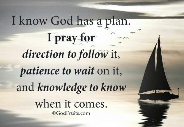 I know God has a plan for me | Knowing god, How to plan ...