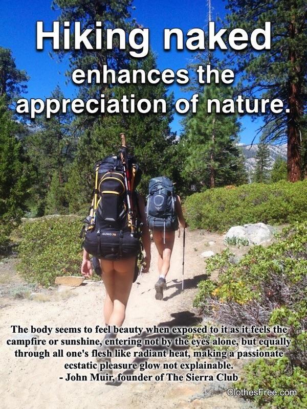 Hiking Naked Enhances Appreciation Of Nature Nudism
