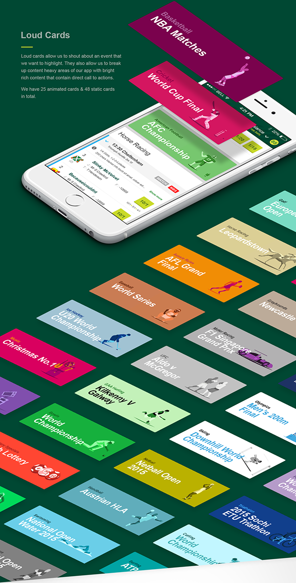 Paddy Power Sports App Redesign on Behance Sports app