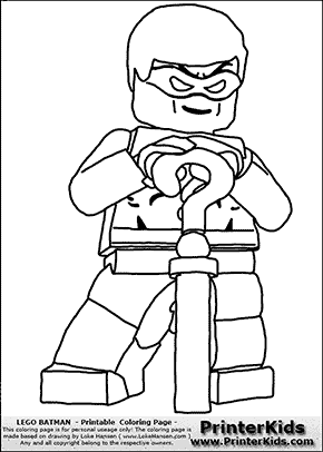 Lego Batman The Riddler Coloring Page Coloring Sheets