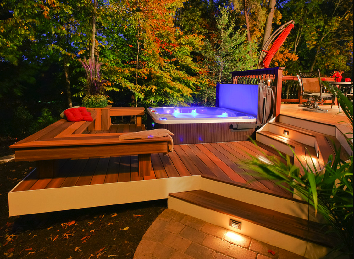 Top 10 Beautiful Backyard Designs Hot Tub Outdoor Hot Tub