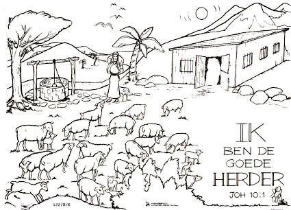 de goede herder herder kleurplaten psalm 23
