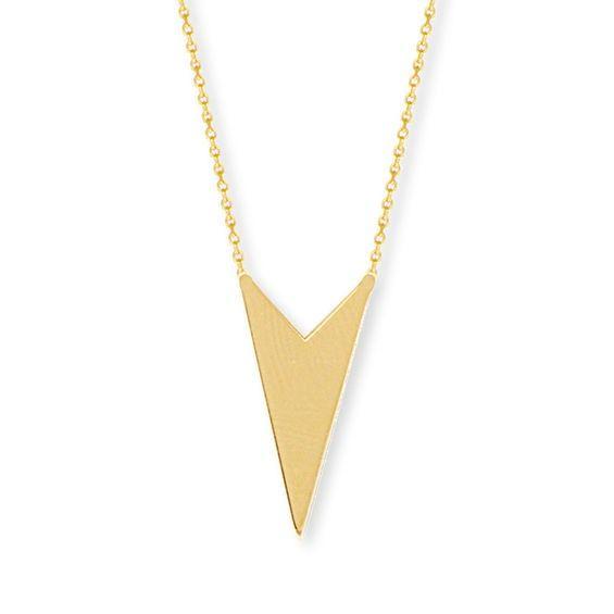 Zales Open Geometric Necklace in 14K Gold y0Bx2Um