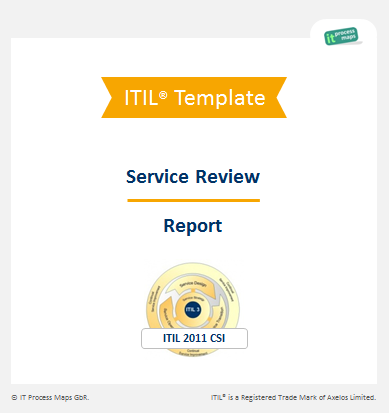 Checklist Service Review Report  Itil    Dashboard