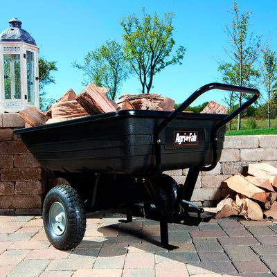 Agri Fab Poly Utility Cart 350 Lb Capacity 41in L X 30 1 2in W X 11in H Model 45 0345 Towing Convertible Utility Cart