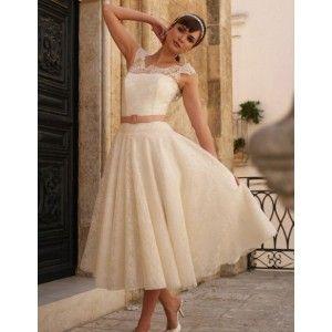 tea length lace dresses