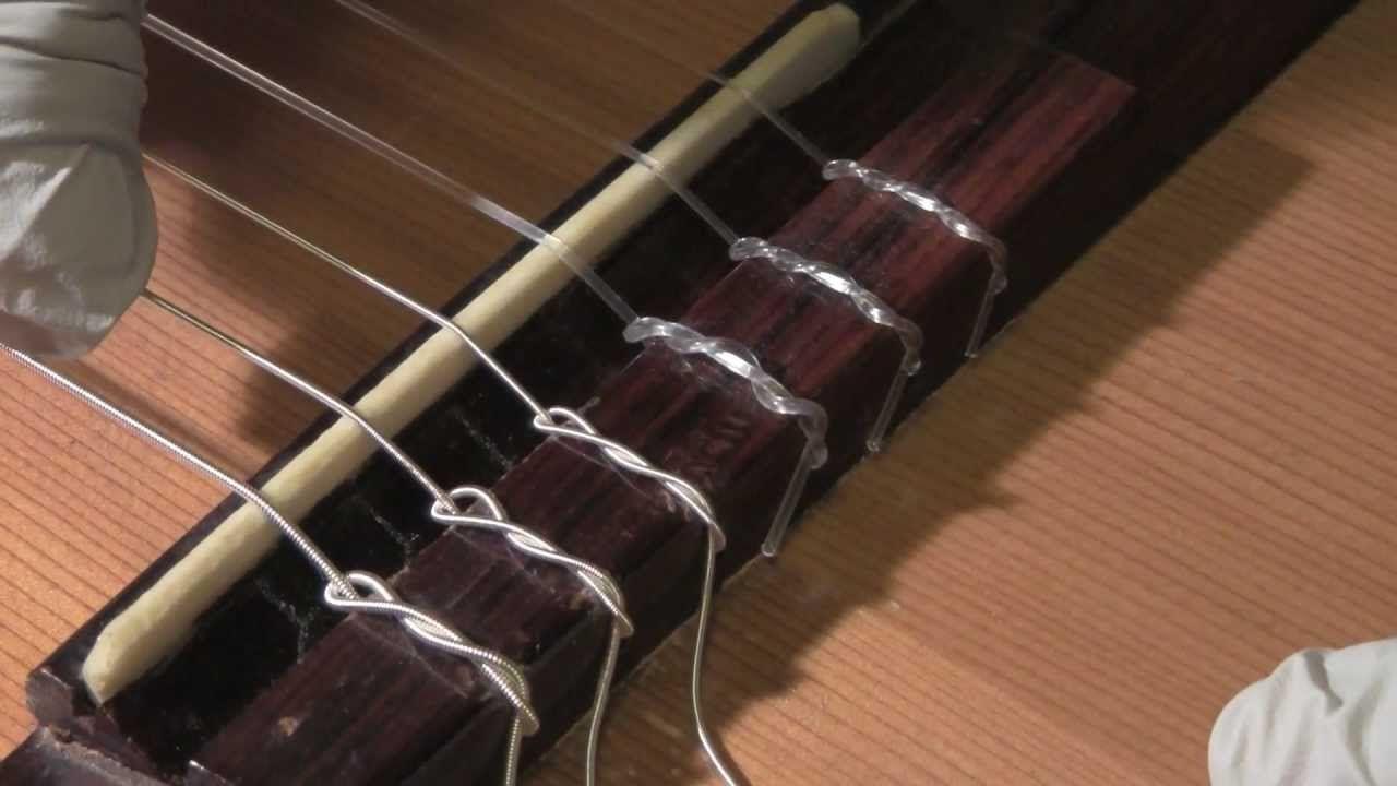 How to restring a classical guitar classical guitar