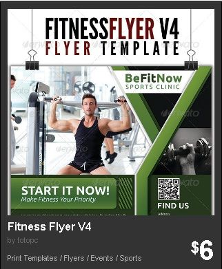 Fitness Flyer Version 4 - 4th Edition of Multi-use Fitness Flyer - fitness flyer template