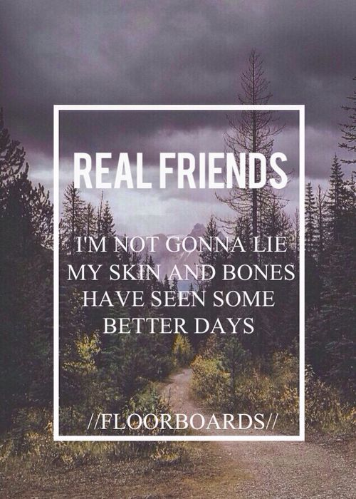 real friends (Acoustic) - floorboards Another one of my