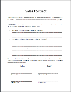 Formal Sales Agreement ContractTemplate  My Board