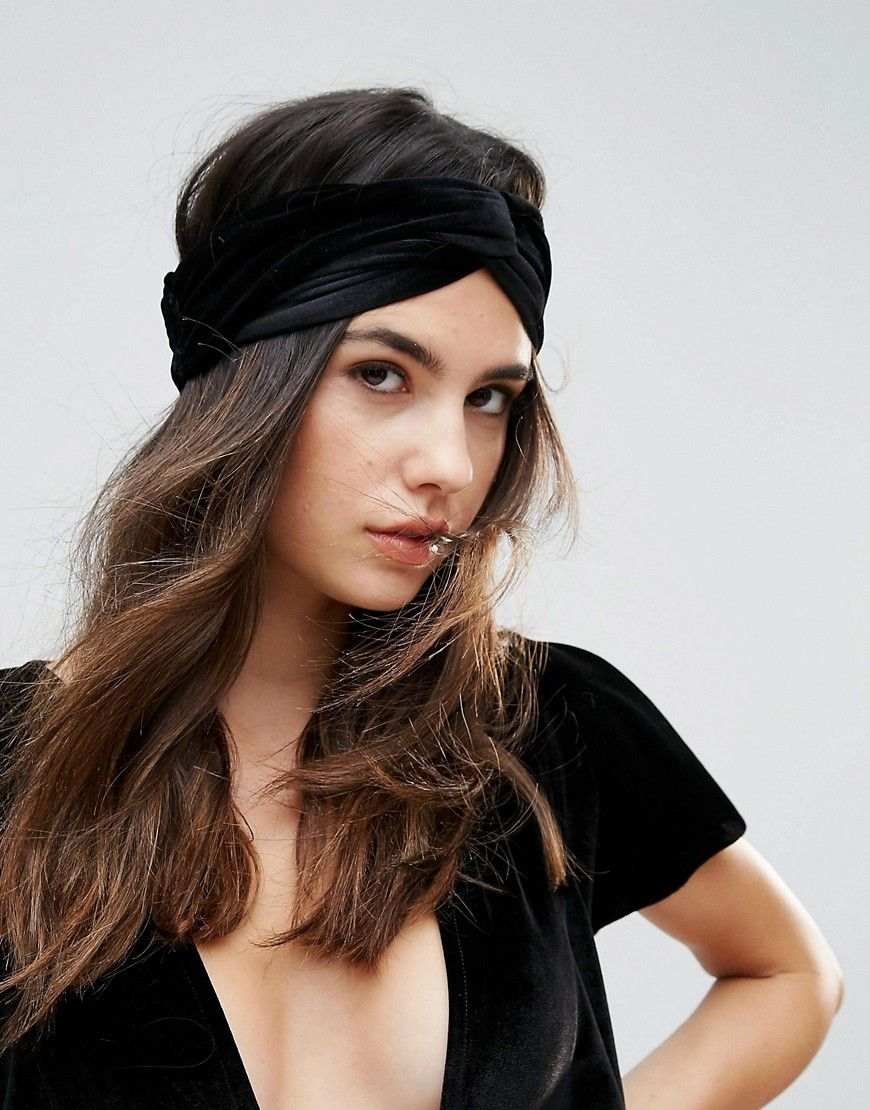 Johnny Loves Rosie Velvet Feel Headband - Black  9f3f3d17b37