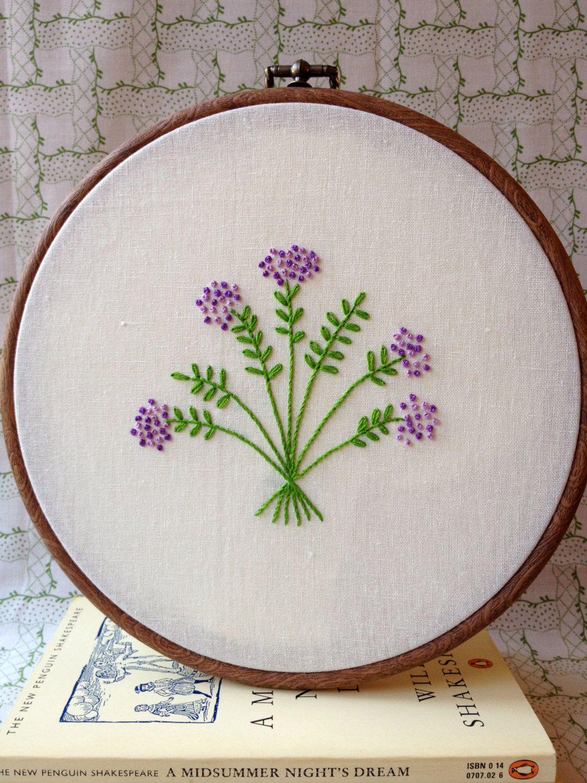 Shakespeareus flowers embroidery pattern set by littledorritandco