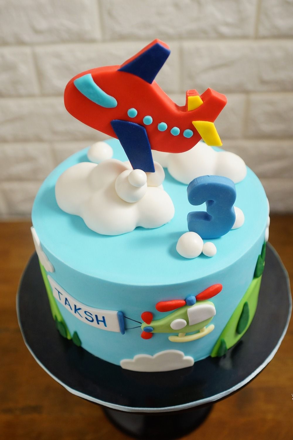 Groovy Airplane Theme Birthday Cake 2D With Images Airplane Funny Birthday Cards Online Fluifree Goldxyz