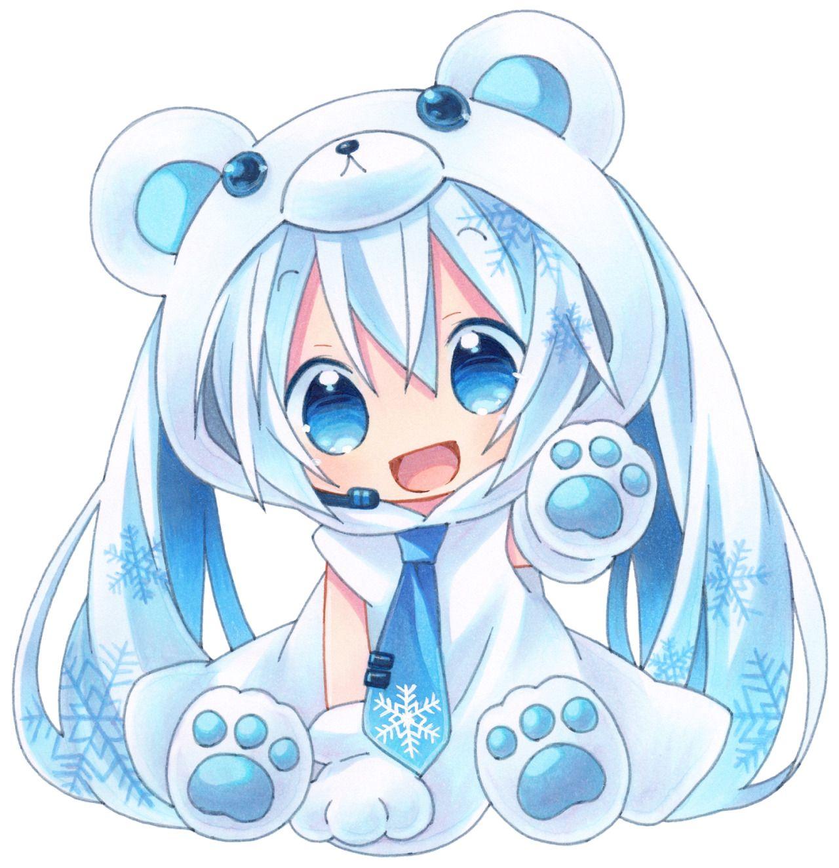 Cute blue anime chibi girl teddy bear cosplay - on anime kida - http ...