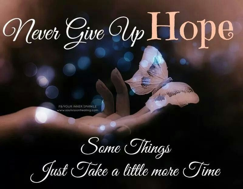 Never give up hope Inspirational quotes, Words to live