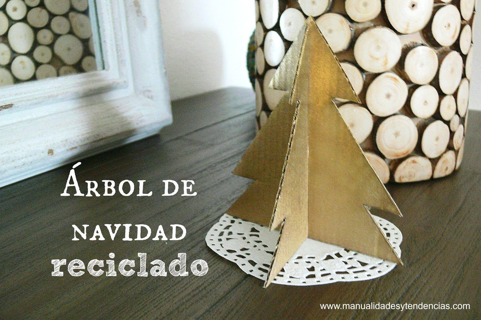 Árbol de Navidad de cartón reciclado montable / Recycled Chritmas tree