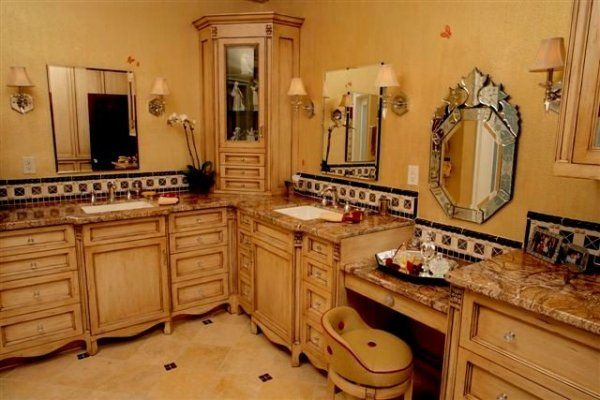 Small Bathroom Vanity With Makeup Counter
