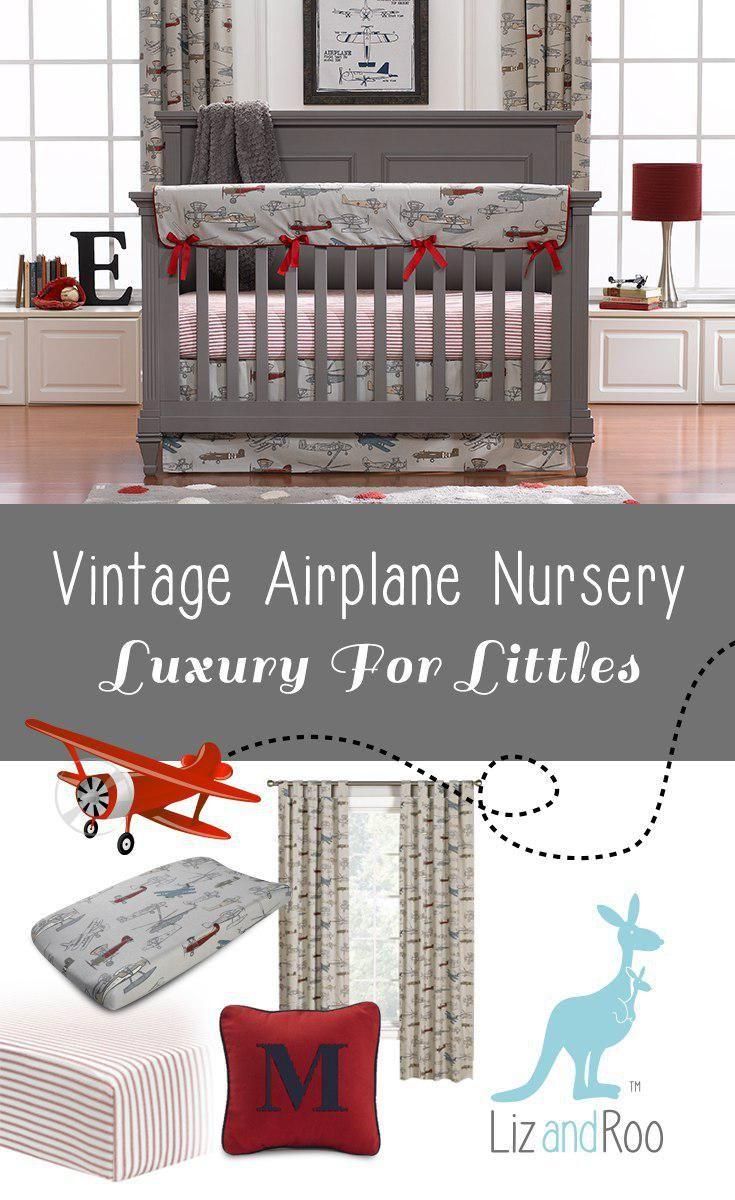 Vintage Airplanes Perless Crib