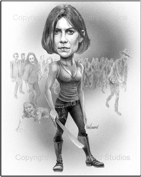 Maggie don of the dead 11x14 in art poster · celebrity caricaturesart posters