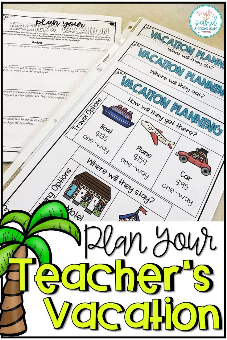 Photo of Digital Summer Math Activity   End of Year Math Project   Plan a Vacation