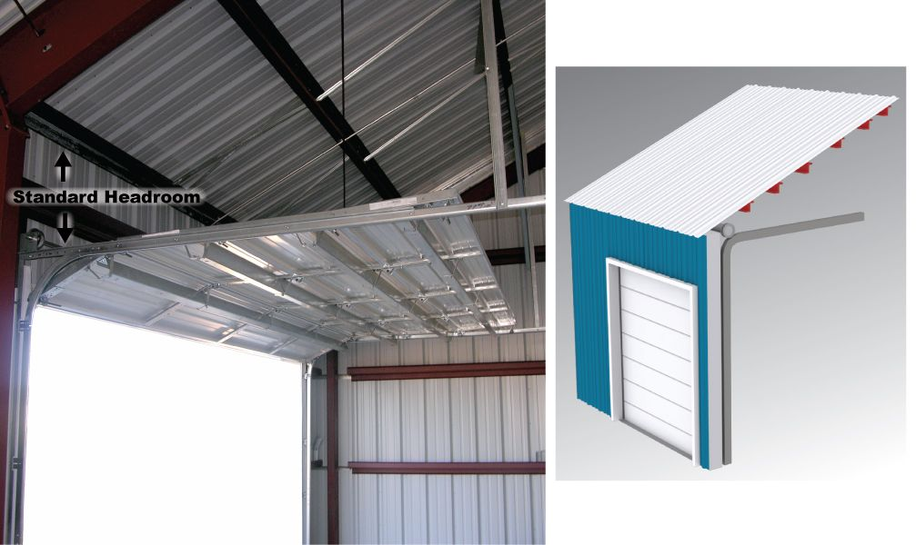 Standard Door Track Lift Overhead Door Low Ceiling Doors