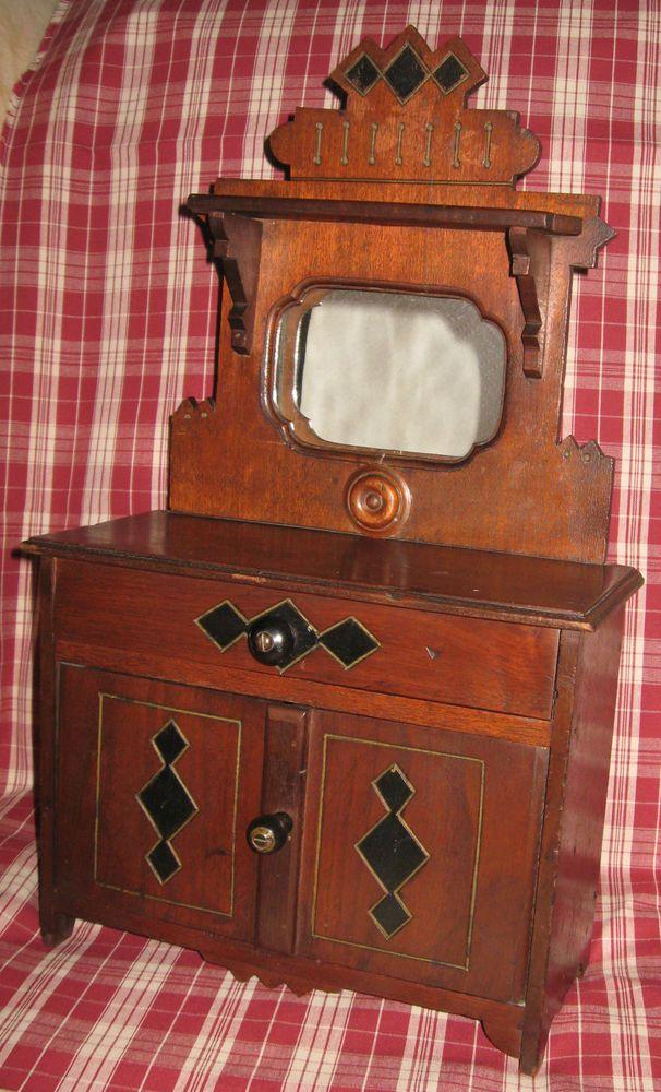 Joking Hazard Victorian Toys Walnut Sideboard Mirrored