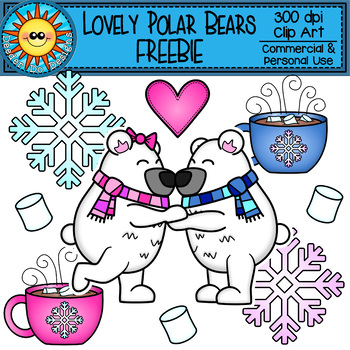 Lovely Polar Bear Clip Art