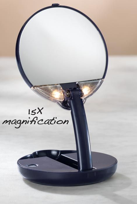 Lighted Travel Makeup Mirror Compact Lighted Travel Makeup Mirror