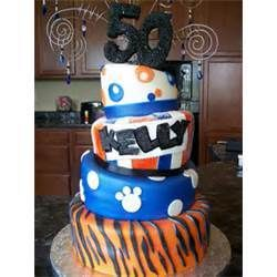 Fantastic Monicakes 4 Tier Memphis Tiger 50Th Birthday Cake Picture 12757 Funny Birthday Cards Online Alyptdamsfinfo