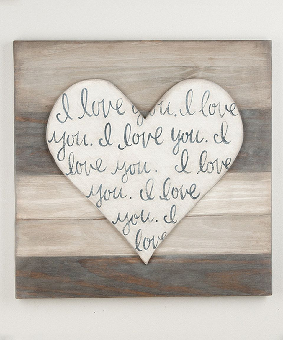 I love youu heartshape wood wall art by glory haus zulily