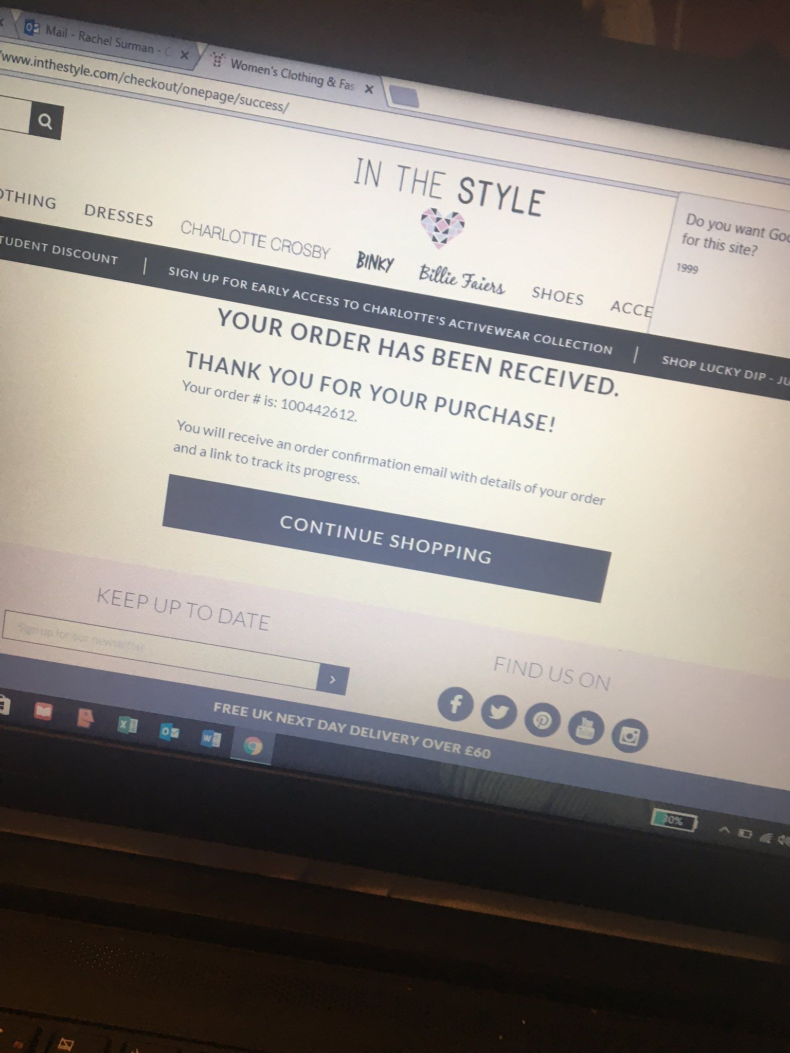 @inthestyleUK : RT @rachel_surman: Basically just bought all of @Charlottegshore 's #activewear  @inthestyleUK https://t.co/Evdm6DMsGM